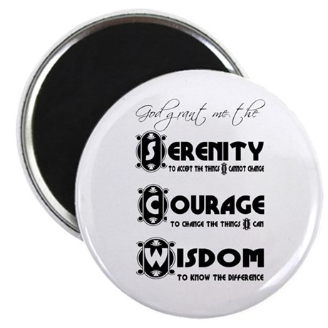 "Serenity Prayer 2.25"" Magnet (10 pack)"