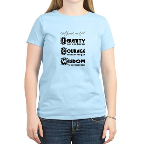 Serenity Prayer Women's Light T-Shirt