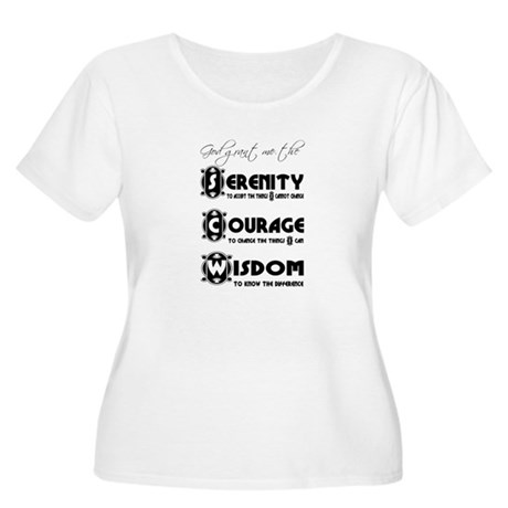 Serenity Prayer Women's Plus Size Scoop Neck T-Shi