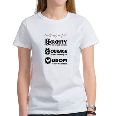 Serenity Prayer Women's T-Shirt