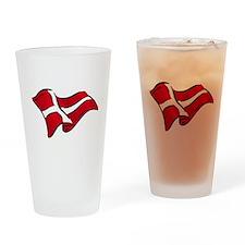 Flag of Denmark Drinking Glass