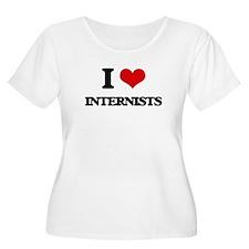 I Love Internists Plus Size T-Shirt