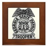 Georgia State Patrol Framed Tile