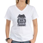 Georgia State Patrol Women's V-Neck T-Shirt
