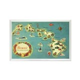 Hawaiian Islands Rectangle Magnet (10 pack)