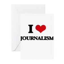 I Love Journalism Greeting Cards
