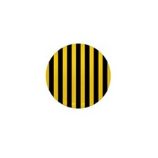 Black And Yellow Stripes Mini Button (100 pack)