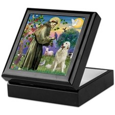 St. Francis & Great Pyrenees Keepsake Box
