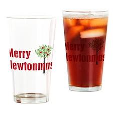Merry Newtonmas Drinking Glass