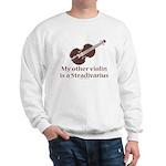 Stradivarius Violin Humor Grey Sweatshirt