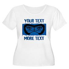 Lacrosse Beauty Blue Pers Plus Size T-Shirt