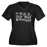 We All Go A Little Mad Women's Plus Size V-Neck Da