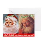 Santa Vs. God Holiday Greeting Cards