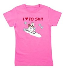 Cute Skiing kids Girl's Tee