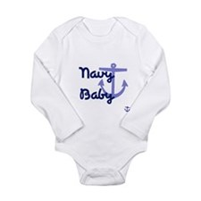 Cute Sailor girl Long Sleeve Infant Bodysuit