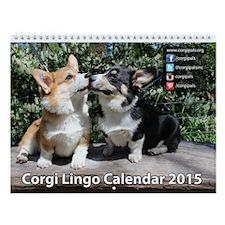 2015 Corgipals Corgi Lingo Wall Calendar
