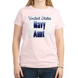 US Navy Aunt Blue T-Shirt