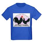 Black Dutch Chickens Kids Dark T-Shirt