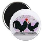 Black Dutch Chickens Magnet