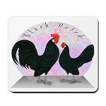 Black Dutch Chickens Mousepad