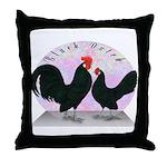 Black Dutch Chickens Throw Pillow