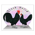 Black Dutch Chickens Small Poster
