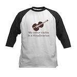 Stradivarius Violin Humor Kids Baseball Jersey