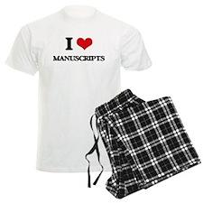 I Love Manuscripts Pajamas
