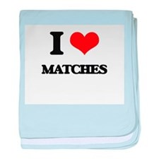 I Love Matches baby blanket
