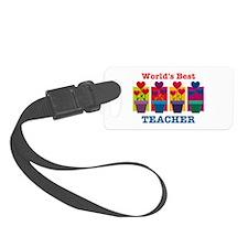 Heart Flower Best Teacher Luggage Tag