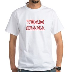 Team OBAMA (red) White T-Shirt