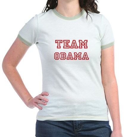 Team OBAMA (red) Jr. Ringer T-Shirt