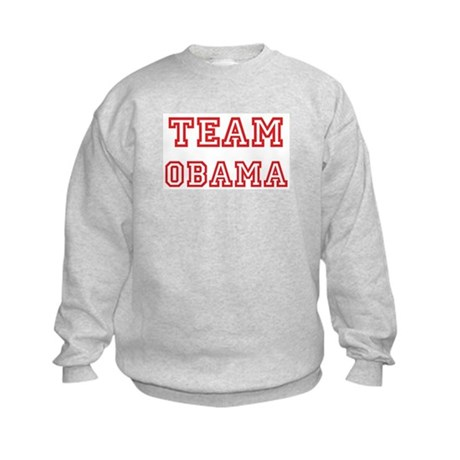 Team OBAMA (red) Kids Sweatshirt