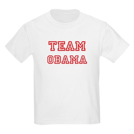 Team OBAMA (red) Kids Light T-Shirt