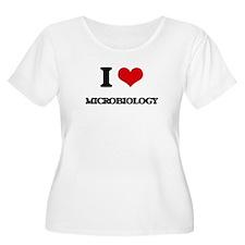 I Love Microbiology Plus Size T-Shirt