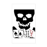 Aces and Eights Rectangle Decal