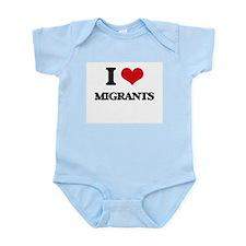 I Love Migrants Body Suit