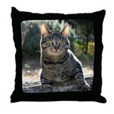 Cat with an attitude Throw Pillow