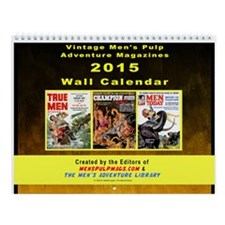 2015 Men's Adventure Magazines Wall Calendar