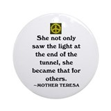 MOTHER TERESA ~ Light of the World Ornament (Round