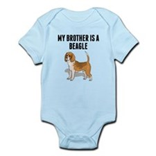 My Brother Is A Beagle Body Suit
