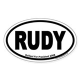 Rudy Guliani RUDY Euro Oval Decal