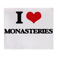 I Love Monasteries Throw Blanket