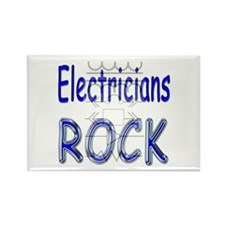 Electricians Rock Rectangle Magnet (100 pack)
