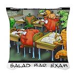 Salad Bar Exam Woven Throw Pillow