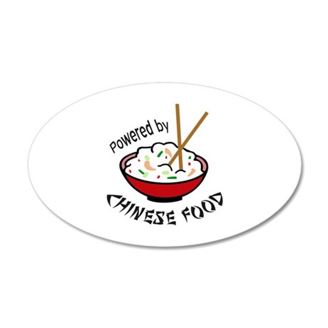 POWERED BY CHINESE FOOD Wall Decal
