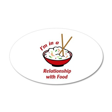 RELATIONSHIP WITH FOOD Wall Decal