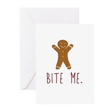 Grouchy Gingerbread Greeting Cards