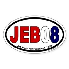 Jeb Bush for President 2008 Oval Decal