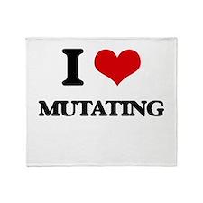 I Love Mutating Throw Blanket